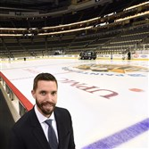 Andy Saucier has served as video coordinator for the Penguins since June 2012. He watches games from his office, not the bench.