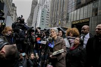 Jill Stein, the nominee for the Green Party in the 2016 presidential election, speaks at a news conference about the vote recount effort she is leading, outside of Trump Tower in New York last week. A judge will rule Monday whether Pennsylvania will have a statewide recount of its votes.