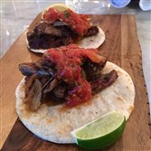 An order of the churrasco tacos at Pirata Caribbean Cuisine & Rum Bar, Downtown.