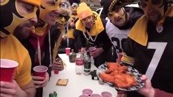 Steelers fans were asked what would they prefer when it came to food: Buffalo wings or Primantis?