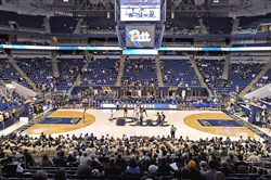 Pitt tips off for a game at the Petersen Events Center.