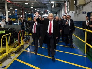 President-elect Donald Trump toured the Carrier plant in Indianapolis last week.