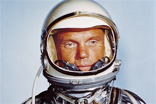 John Glenn in 1962, the year he orbited the Earth in Friendship 7. The flight lasted nearly five hours and rallied an American space program that had fallen dangerously far behind the Soviet Union's.