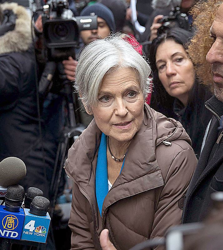 jill stein Former Green Party presidential candidate Jill Stein during a news conference in New York City on Monday.