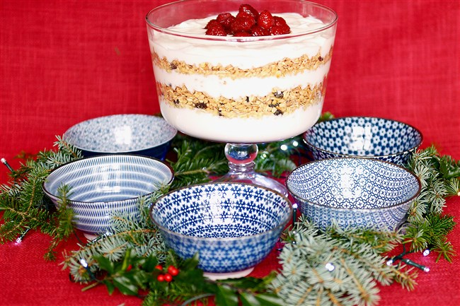 Keep Christmas Day simple and make a yogurt parfait for brunch.