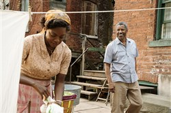 "Denzel Washington plays Troy Maxson and Viola Davis plays his wife Rose in August Wilson's filmed-in-Pittsburgh ""Fences,"" which is a best picture Oscar nominee."
