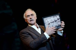 "Former Steeler Rocky Bleier returns to the O'Reilly Theater stage for ""The Play.""  The show runs through Jan. 7."