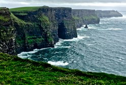 The Cliffs of Moher on the Wild Atlantic Way in County Clare, Ireland.