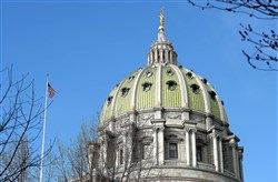 The state Capitol in Harrisburg.