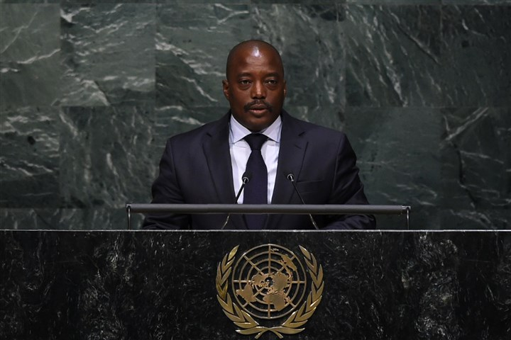 FILES-UN-DRCONGO-POLITICS-6 Democratic Republic of the Congo President Joseph Kabila