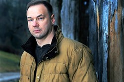 Thomas Tull at his farm in Bulger, Washington County.