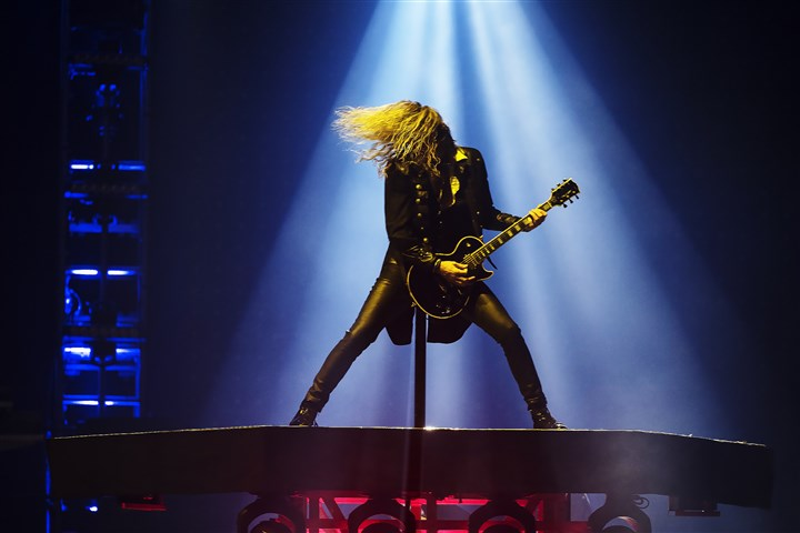 20161227hmnTSO-5-4 The Trans-Siberian Orchestra's Joel Hoekstra at the PPG Paints Arena in Uptown on Tuesday.