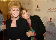 "Debbie Reynolds and Carrie Fisher arrive at the ""Runway for Life"" Celebrity Fashion Show Benefitting St. Jude's Children's Research Hospital in 2003."