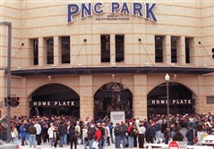 PNC Park in March 2001, first exhibition game.