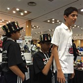 Brothers Arvind Seshan, 12, and Sanjay Seshan, 14, attended the World Robot Olympiad in Delhi last month.