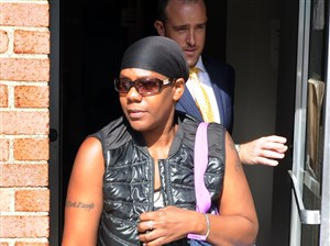 Patricia Fowler exits a hearing in August.