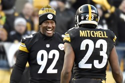 James Harrison and Mike Mitchell
