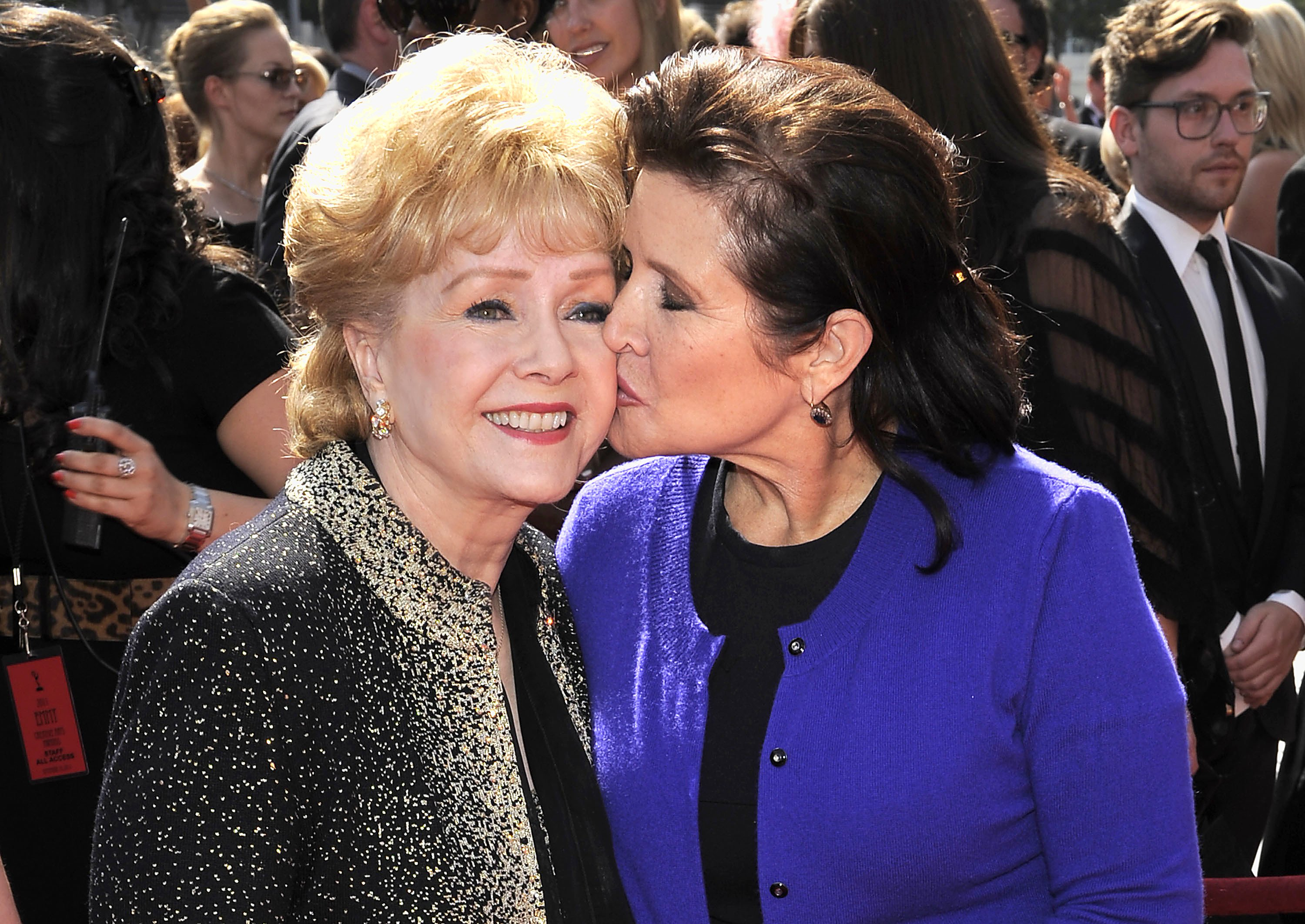 APTOPIX Debbie Reynolds Debbie Reynolds and daughter Carrie Fisher in 2011.