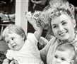 Debbie Reynolds, with Carrie Fisher, left, and Todd Fisher in an undated photo.