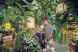 "Wendy and Daniel Cevola have turned one of their Elk Grove home's rooms into a ""jungle"" that includes three stereos simultaneously playing tropical storm sounds."
