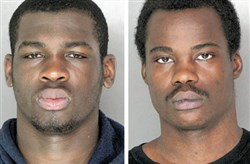 From left, William McGraw, 23, of McKeesport and Timothy Brock, 23, of East Liberty were found guilty Thursday of second-degree murder in the shooting death of Wilkinsburg jitney driver Monica Proviano.