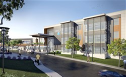 An architecht's rendering of the new Chartiers Valley Middle School now under construction.