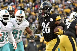 Le'Veon Bell set a franchise postseason rushing record against Miami Jan. 8, then broke that record the following week against Kansas City.