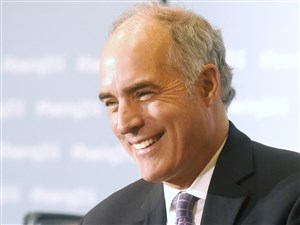 U.S. Sen. Robert Casey laughs during a forum last fall. Casey, a Democrat from Pennsylvania, said he would vote against three of Donald Trump's cabinet nominees.