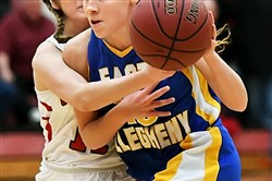 East Allegheny's Amani Johnson scored 35 points Monday in a 65-50 victory at Charleroi.