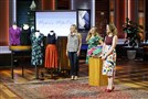 "Elena Petzold of Upper St. Clair, right, pitches her business Mama's MilkBox, a subscription service for breastfeeding apparel, on ABC's ""Shark Tank."""