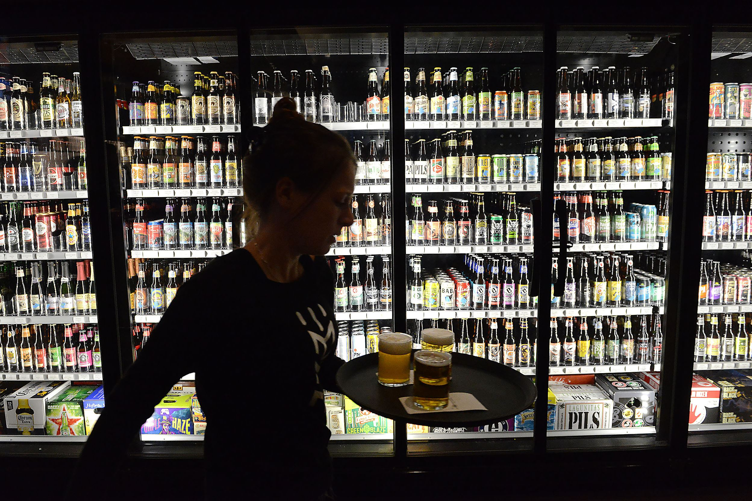 20170110rldMindful02-1 Mindful Brewing Co., housed in the renovated former John McGinnis & Co. grocery store will have 50 beers on tap, eight taps for wine and five for mixed drinks, it will also sell over 1,000 different bottles and cans of beer.