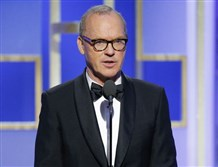 Michael Keaton, while presenting a Golden Globe at Sunday's awards ceremony, accidentally combined the names of two films that have predominantly black casts.