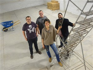 From left, Adam Paulisick, Kit Mueller, Ashley Cecil and Nate Mitchell at The Shop in Homewood.