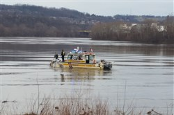 Pittsburgh River Rescue responds  to an overturned boat this afternoon in the Monongahela River.