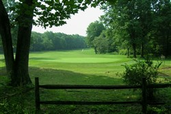 Hole 13, a par 4 at Indian Lake Golf Club in Somerset County, home of the first course designed by Arnold Palmer.
