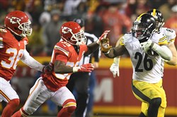 Steelers running back Le'Veon Bell and his offensive line will battle one of the league's best rushing defenses when the play New England for the AFC championship Sunday.
