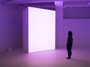"""From the exhibit """"Permutations of Light"""" by David Spriggs and Matthijs Munnik at Wood Street Galleries."""