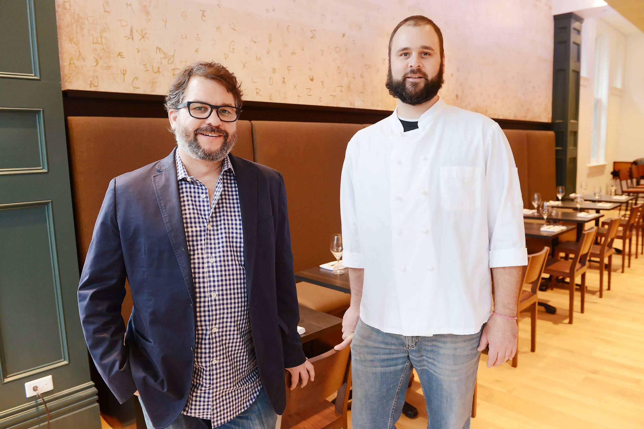 20170117rldCasellula10 Owner Brian Keyser, left, and executive chef Andrew Hill inside Casellula @ Alphabet City, the new restaurant at City of Asylum on the North Side.