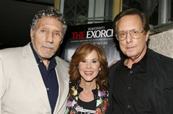 """The Exorcist"" author William Peter Blatty, left, joins Linda Blair, who starred in the 1973 film and William Friedkin, the film's director, at a screening of the remastered film at the Museum of Modern Art in New York."