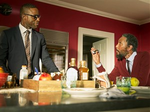 """From left, Sterling K. Brown as Randall and Ron Cephas Jones as William in """"This Is Us."""""""