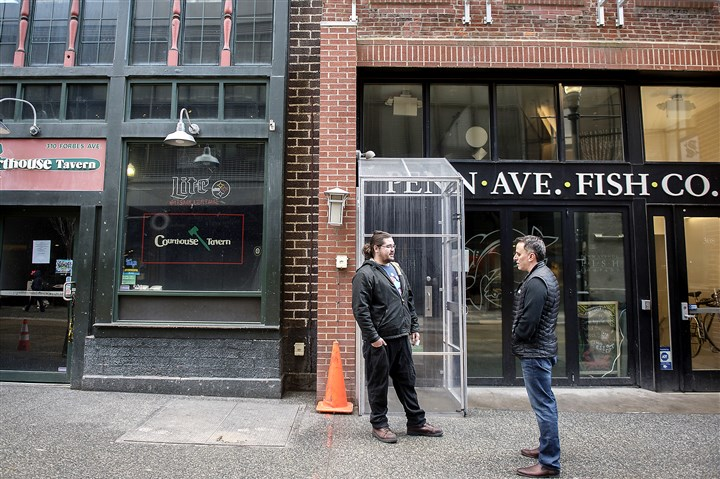 After construction and sewer backups downtown restaurant for Penn ave fish co