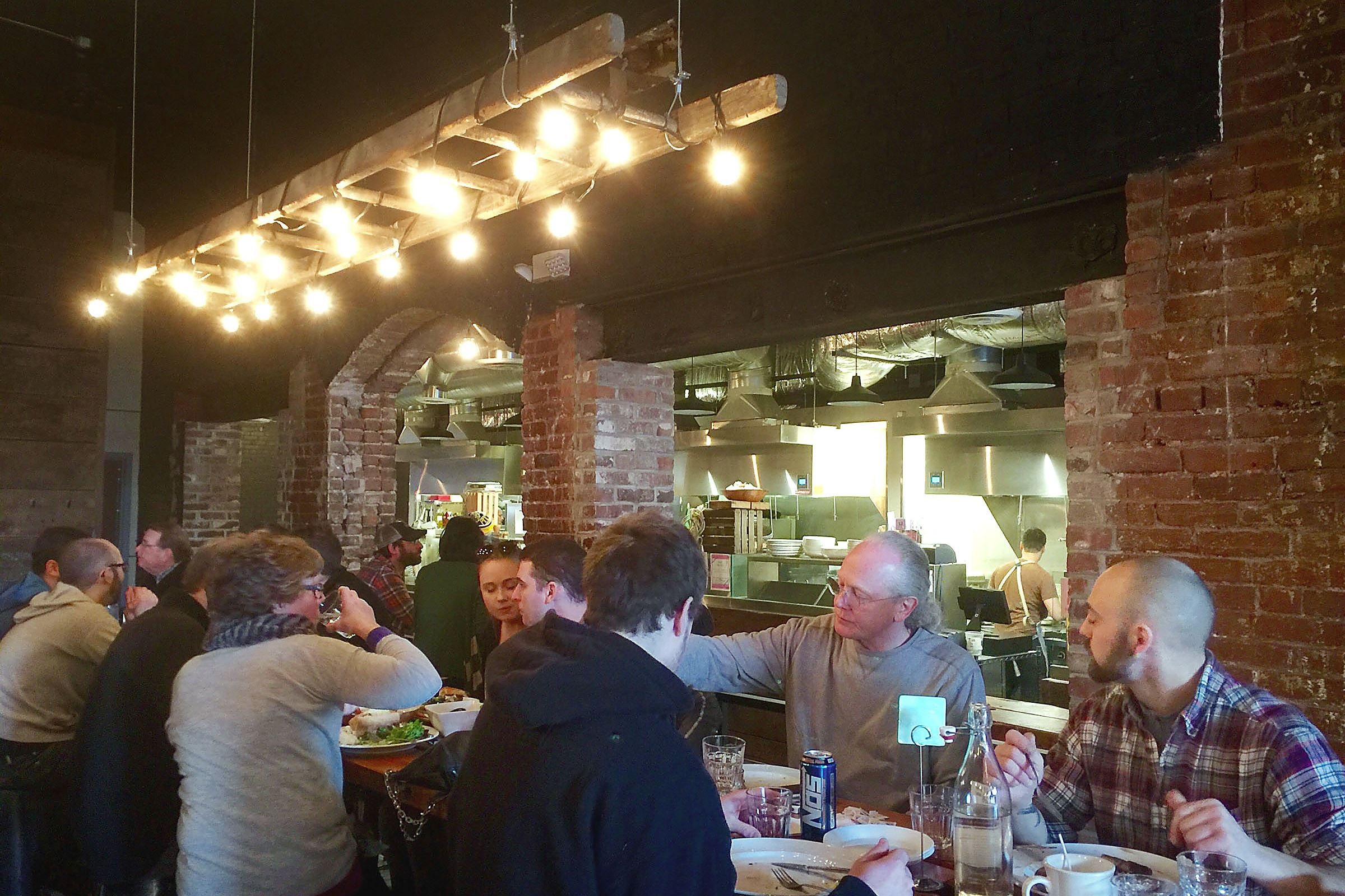 munch0119 galley A group enjoys brunch at Smallman Galley, the restaurant incubator/food hall in the Strip District.