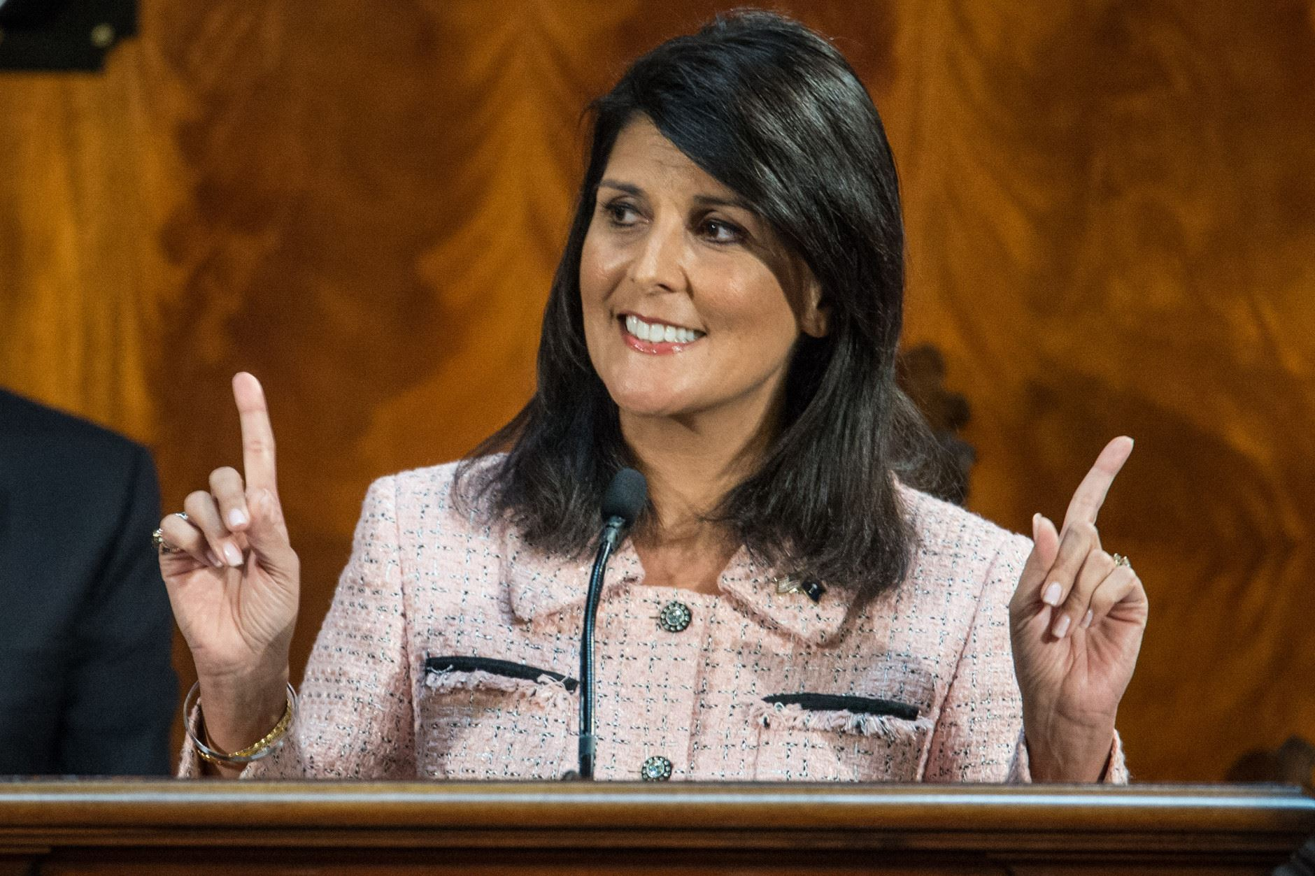 Haley on Capitol Hill for United Nations ambassador confirmation hearing