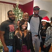 Pitt senior Jamel Artis, second from right, celebrates Christmas in 2014 with his family. From left: Jamaal (twin brother), Mica (sister), Kevin (dad) and Miesha (sister).