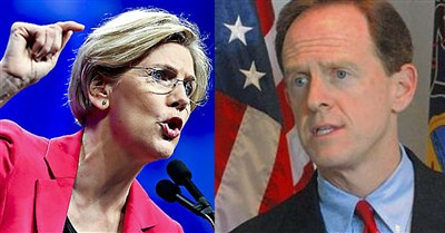 Toomey-Warren wager: red and blue and black and gold