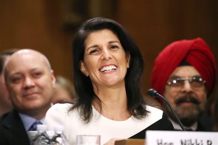 efbd1db73e849 South Carolina Gov. Nikki Haley was confirmed Tuesday to become the next U.  S. ambassador to the United Nations