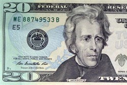 President Andrew Jackson on the $20 bill