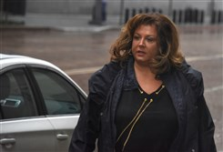 Abby Lee Miller  arrives in front of the Federal Courthouse in Pittsburgh today.