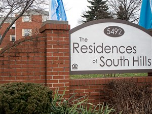 The Residences of South Hills apartment complex.
