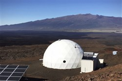 Six carefully selected scientists entered this geodesic dome on Mauna Loa on the island of Hawaii on Thursday to take part in a human behavior test.